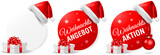 Weihnachts Angebot Aktion Button Set - 181283755