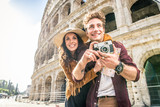 Couple at Colosseum, Rome - 181285586