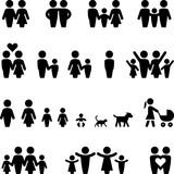 Family Icons - Black Series - Illustration