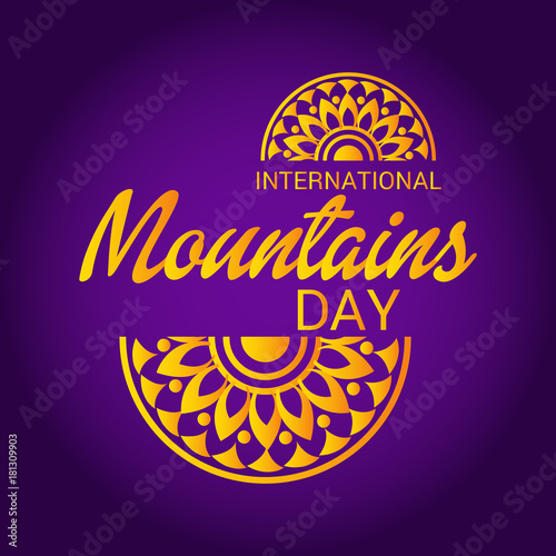Foto op Canvas Violet International Mountains Day.