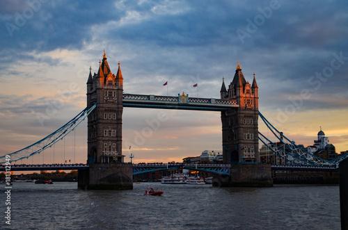 Staande foto London Tower Bridge At Sunset
