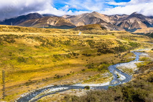 Foto op Canvas Honing Cave stream Scenic Reserve, Canterbury, New Zealand