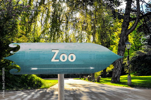 Sticker Schild 254 - Zoo