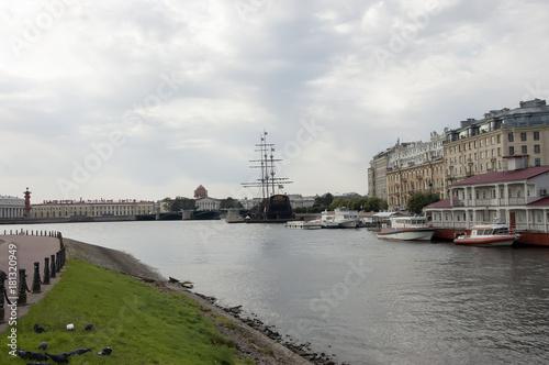Embankment of the big river