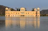 The  Jal Mahal palace on Man Sagar Lake in Jaipur, India