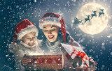 Family enjoying Christmas - 181329933