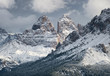 Mountain panorama in the Italy. Beautiful natural landscape in the Italy mountain