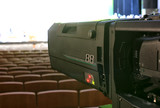Television broadcast from the theater. Professional digital video camera. - 181332148