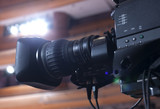 Television broadcast from the theater. Professional digital video camera. - 181332166