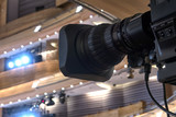Television broadcast from the theater. Professional digital video camera. - 181332187