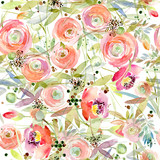Flower seamless pattern. Roses flower background