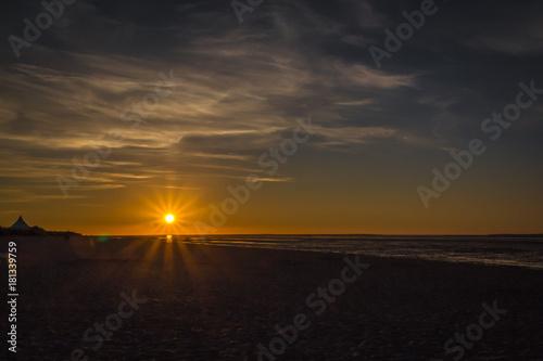 Aluminium Noordzee Sonnenuntergang