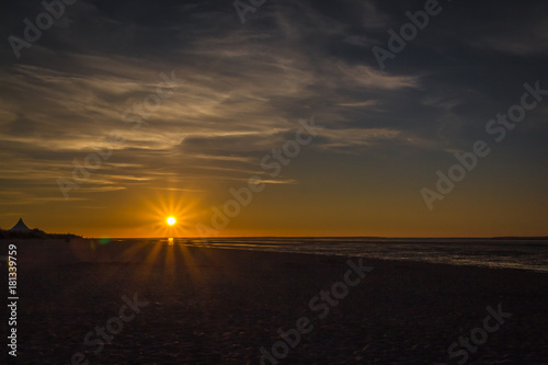 Fotobehang Noordzee Sonnenuntergang