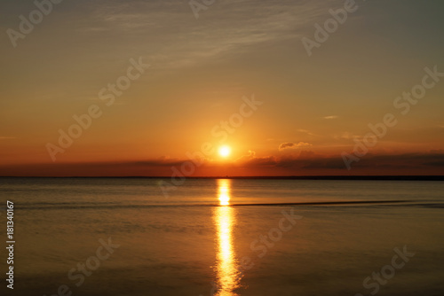 summer sunset on the gulf of finland on baltic sea