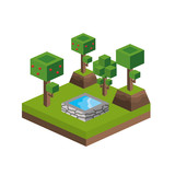 trees and water source design