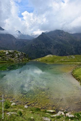 Deurstickers Bergen Sommer, Bergpanorama in Südtirol