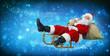 Santa Claus on his sledge