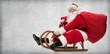 Quadro Santa Claus on his sledge