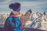 Trekking in Chamonix, France. Height 3800 meters.