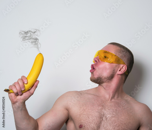 athlete indulges in banana