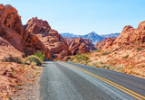 Road in Valley of Fire State Park, Nevada, United States. - 181364584