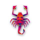 skorpion origami wektor - 181372958