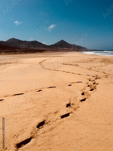 In de dag Canarische Eilanden Cofete beach in fuerteventura, Canary islands, Spain
