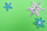 flowers made quilling on a light background - 181380352