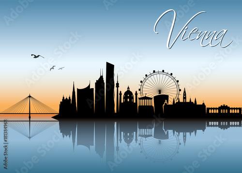 Fridge magnet Vienna skyline