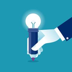 Creative idea. Business concept vector illustration. © bizvector