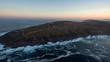 Aerial view of Cape Spear Lighthouse, Newfoundland, most eastern point in Canada