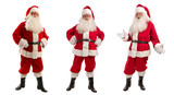 Three Santa Claus in Christmas Costume - Full Length