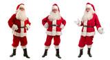 Three Santa Claus in Christmas Costume - Full Length