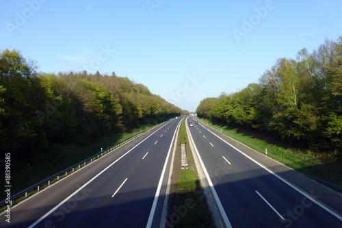 Leinwanddruck Bild Autobahn A 3 bei Höchstadt