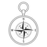 Compass. Vector illustration isolated on white background - 181391967