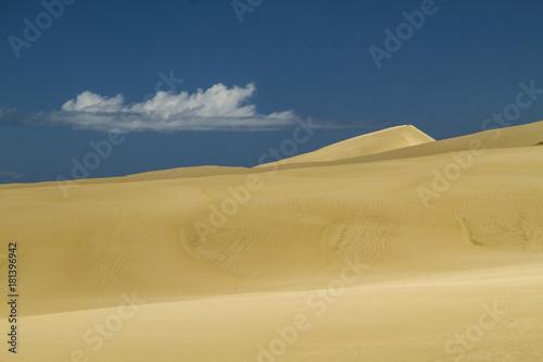 In de dag Nachtblauw giant sand dunes