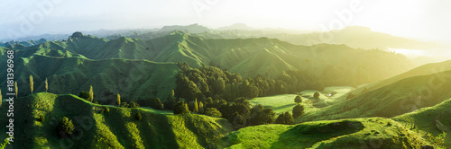 In de dag Pistache new zealand green hills