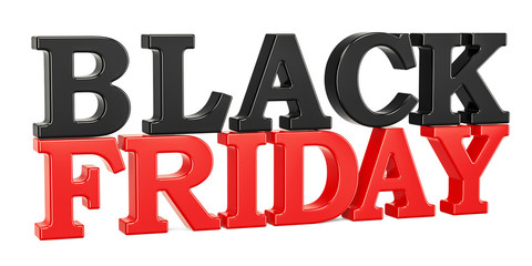 Black Friday inscription, 3D rendering