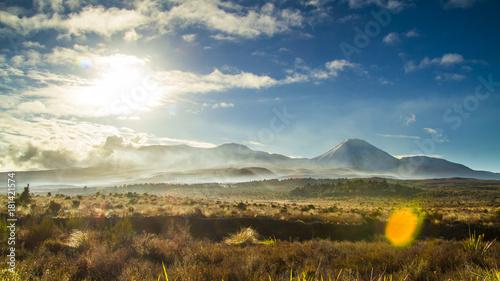 Plexiglas Donkergrijs mt ngauruhoe volcano