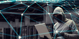 Computer privacy attack. Mixed media - 181424101