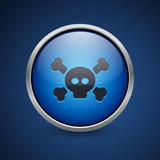Push Button - Dark Blue Web Icon - 181426194