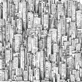 City Hand drawn background - 181427349