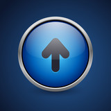 Push Button - Dark Blue Web Icon - 181428595
