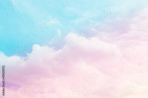 soft cloud and sky with pastel gradient color for background backdrop - 181428953