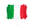 Flag of Italy. Abstract concept