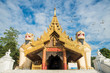 The architecture of the South gate of Shwedagon pagoda in Yangon township of Myanmar.