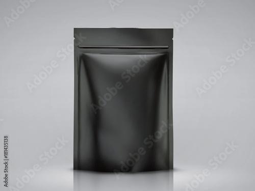Blank foil bag mockup