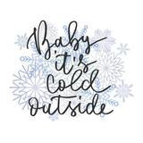 Cold outside hand written inscription - 181440361