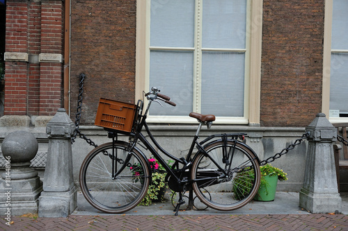 Aluminium Fiets Bicycles and flowers in Amsterdam