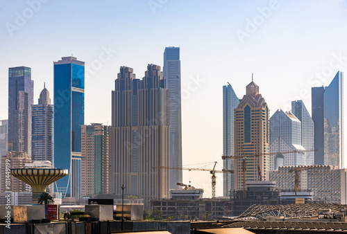 Foto op Canvas Dubai skyline di Dubai